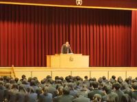 生徒指導部長の講話